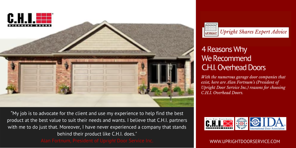 Why Upright Door Service Recommends CHI Overhead Doors, Durham Region ON